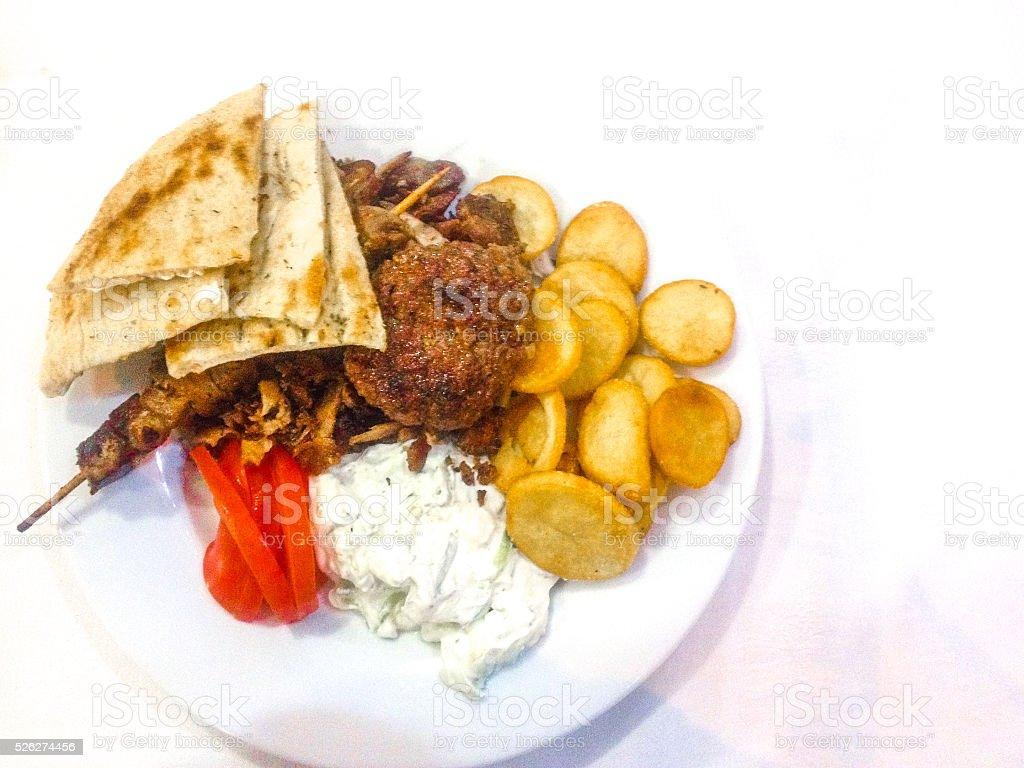 Greek Feast stock photo