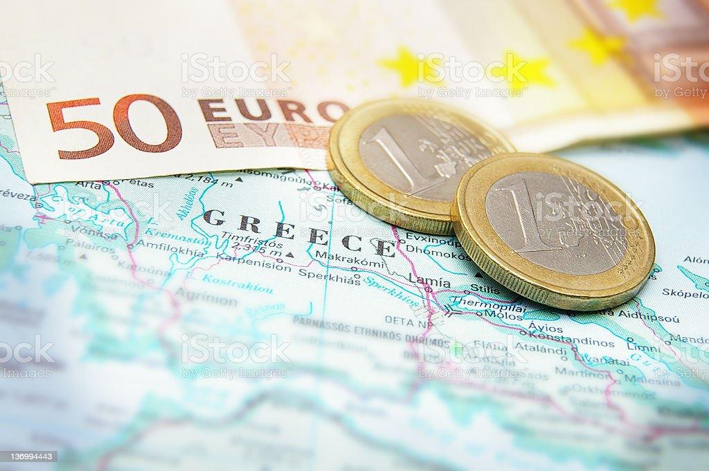 Greek finance stock photo