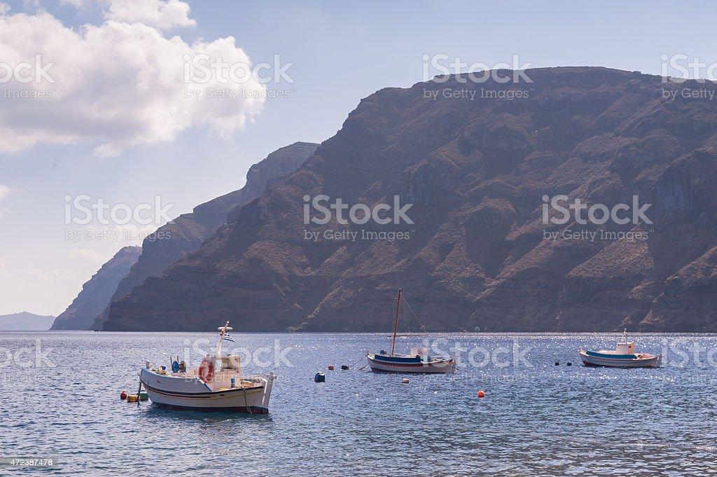 Greek fishing boats stock photo