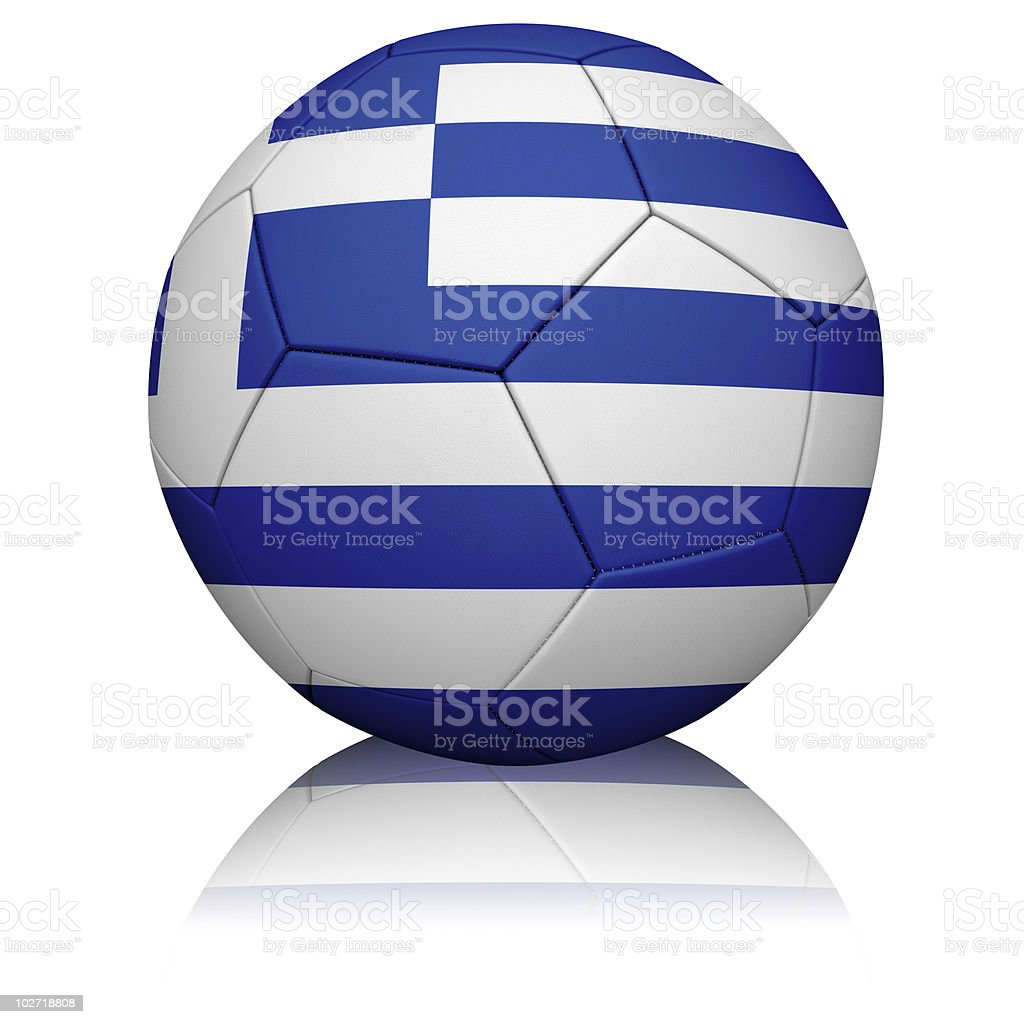 Greek Flag Football royalty-free stock photo