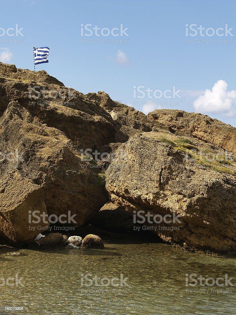 Greek Flag. royalty-free stock photo