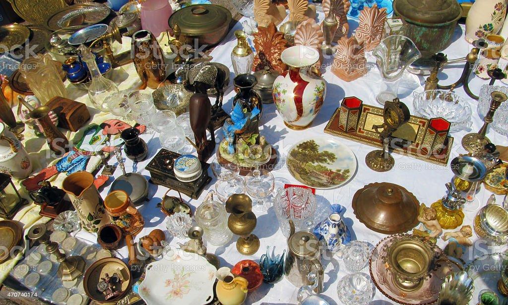 Greek flea market stock photo