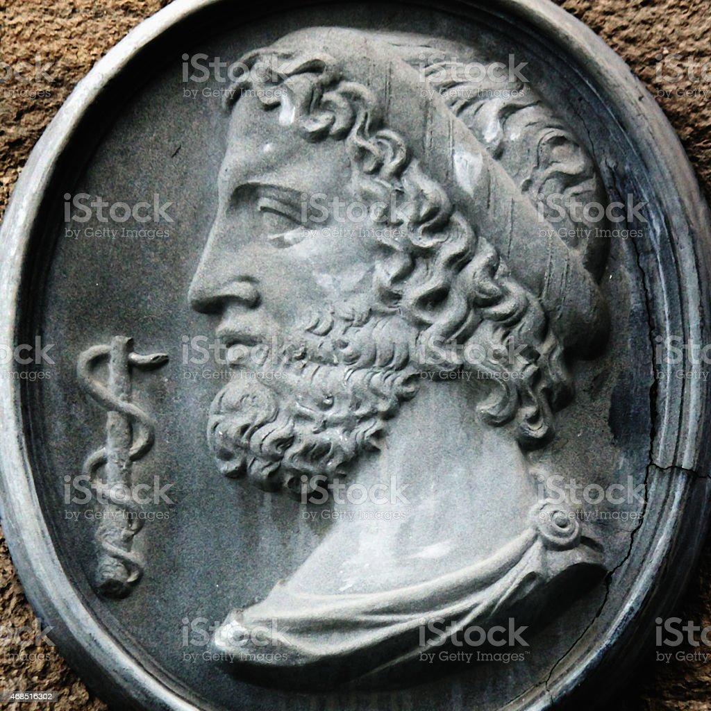 Greek God Asclepius stock photo