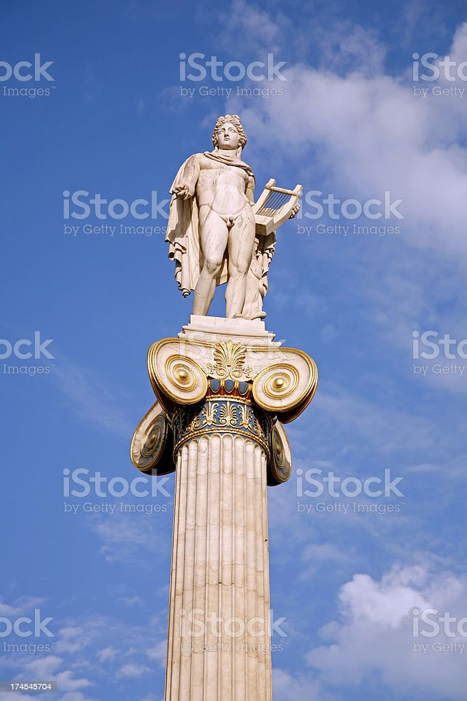 Greek god royalty-free stock photo