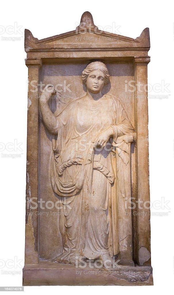 Greek grave stele from Piraeus (375-350 BC) royalty-free stock photo
