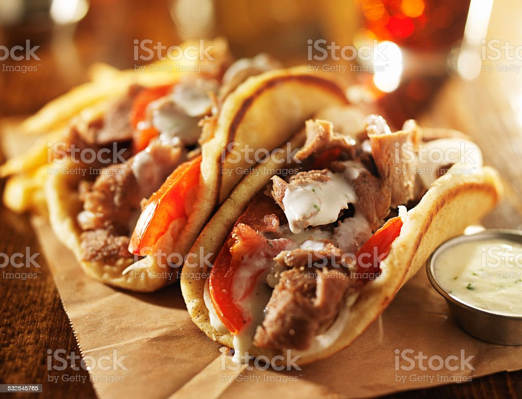 greek gyros stock photo