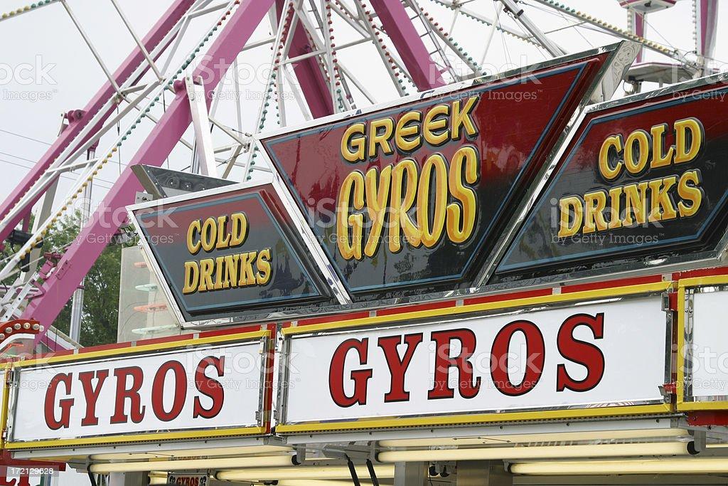 Greek Gyros Signs stock photo
