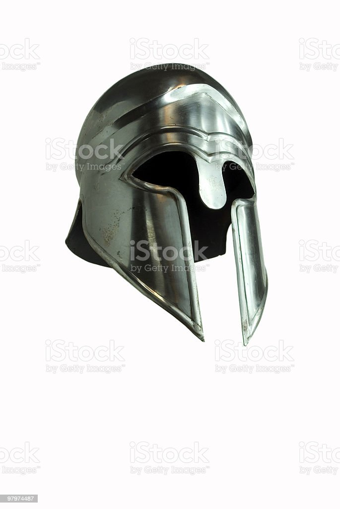 Greek helmet stock photo