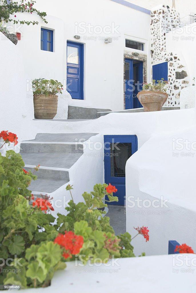 Greek home royalty-free stock photo