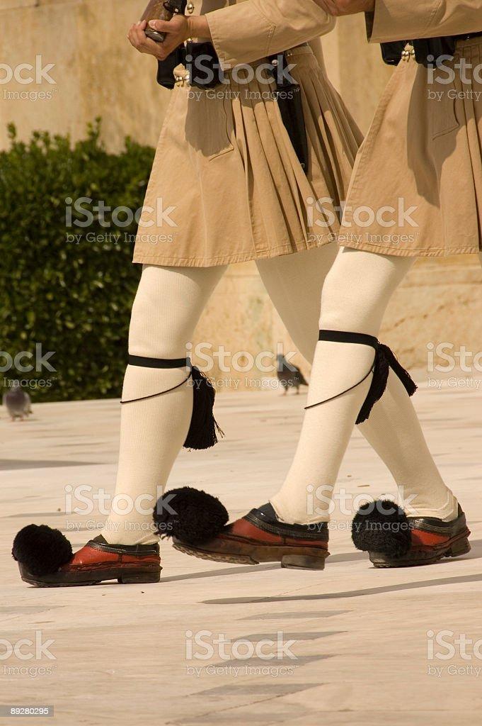 Greek honor guards stock photo