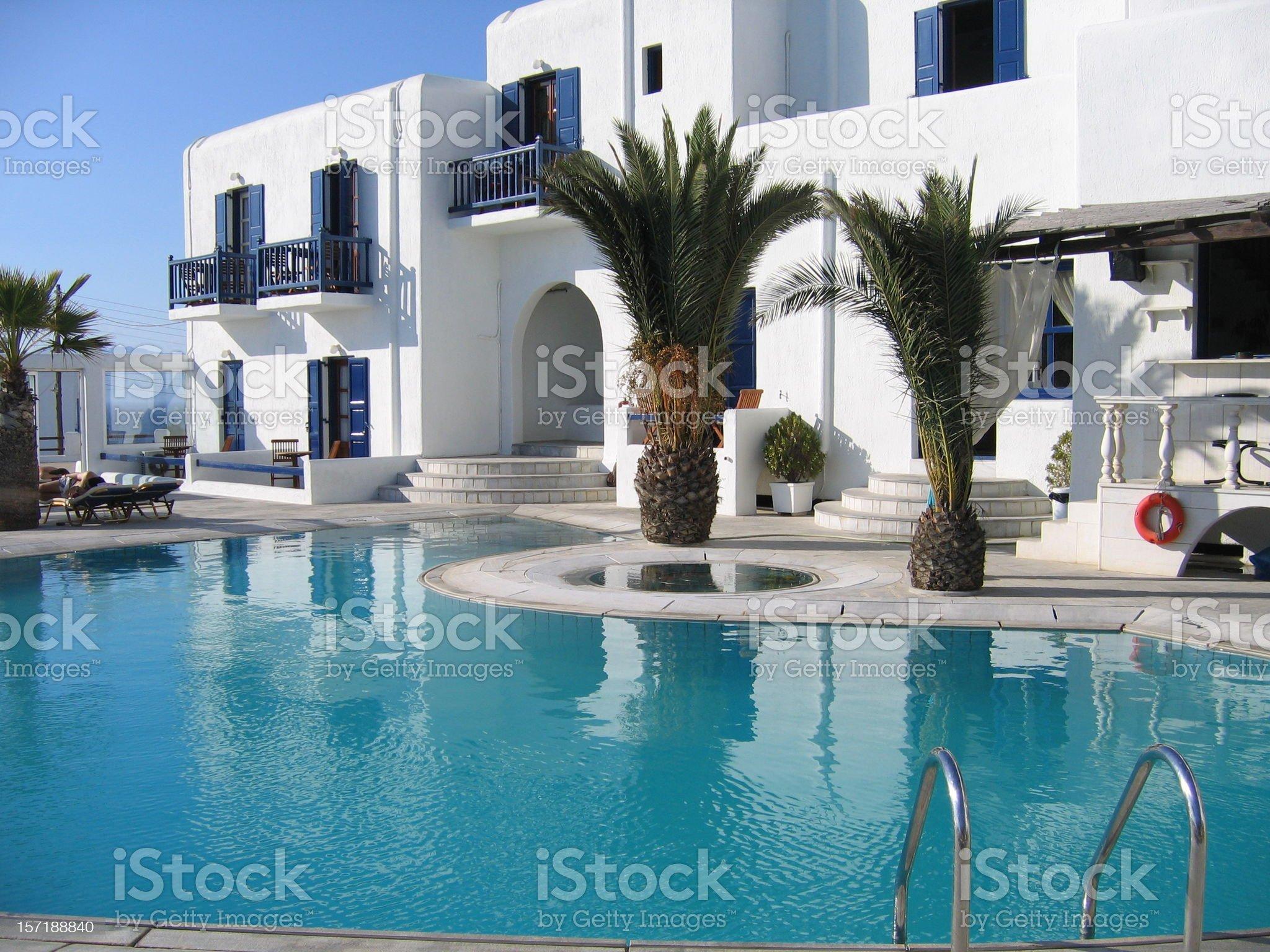 Greek Hotel in Mykonos royalty-free stock photo