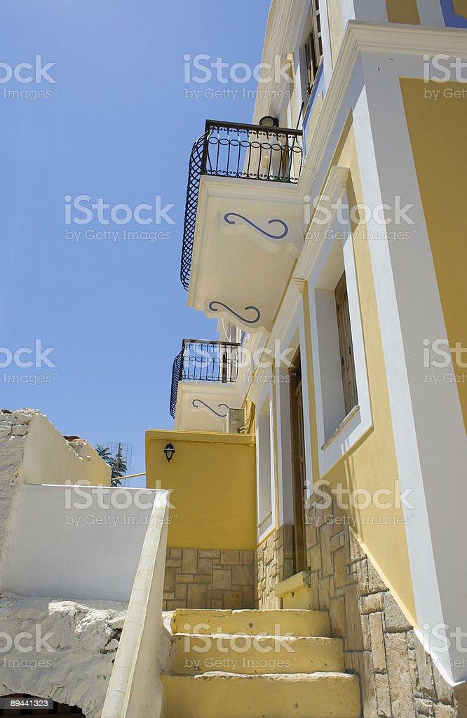 Greek house royalty-free stock photo