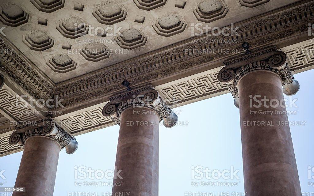 Greek inspired Copenhagen Court House, Denmark stock photo