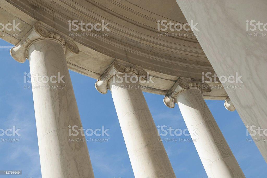 Greek Ionic Columns royalty-free stock photo