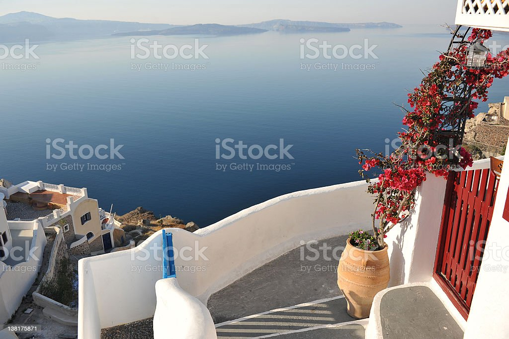 Greek island apartment royalty-free stock photo