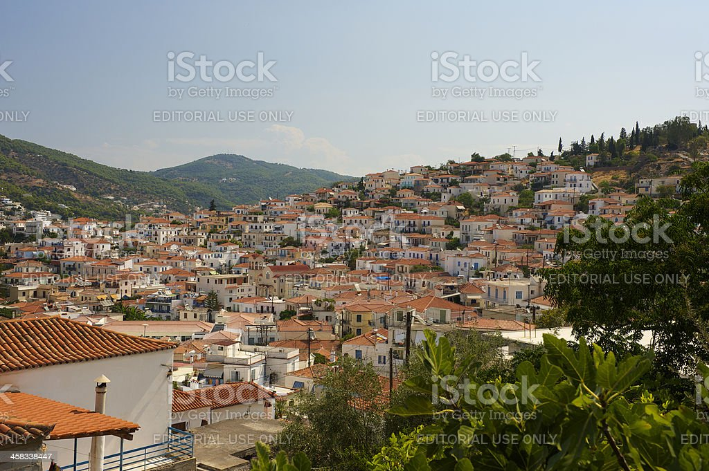 Greek island Poros in southern part of Saronic Gulf royalty-free stock photo