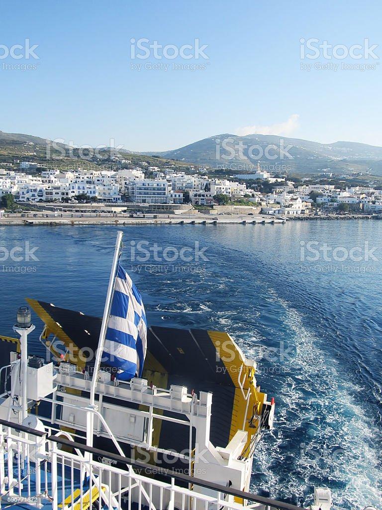 Greek islands cruising stock photo