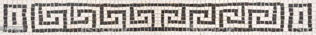 Greek key fret pattern made with mosaics stock photo