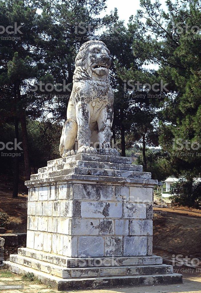 Greek Lion of Amphipolis Statue royalty-free stock photo