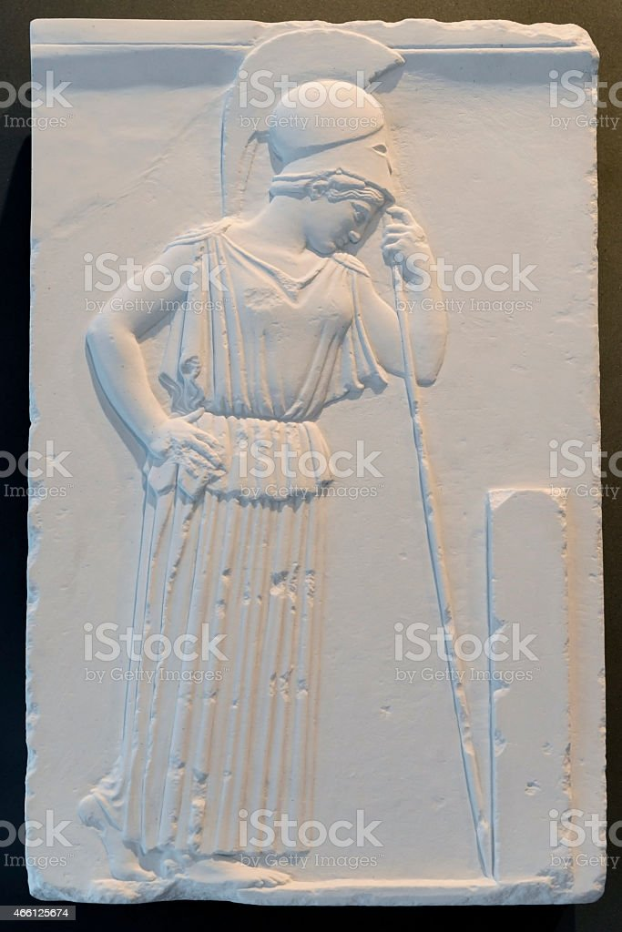 Greek Marble Relief stock photo