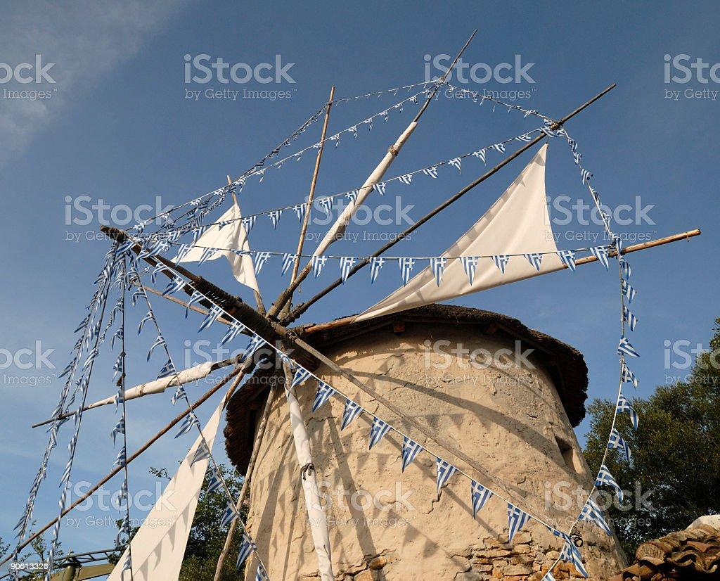 Greek Mill stock photo