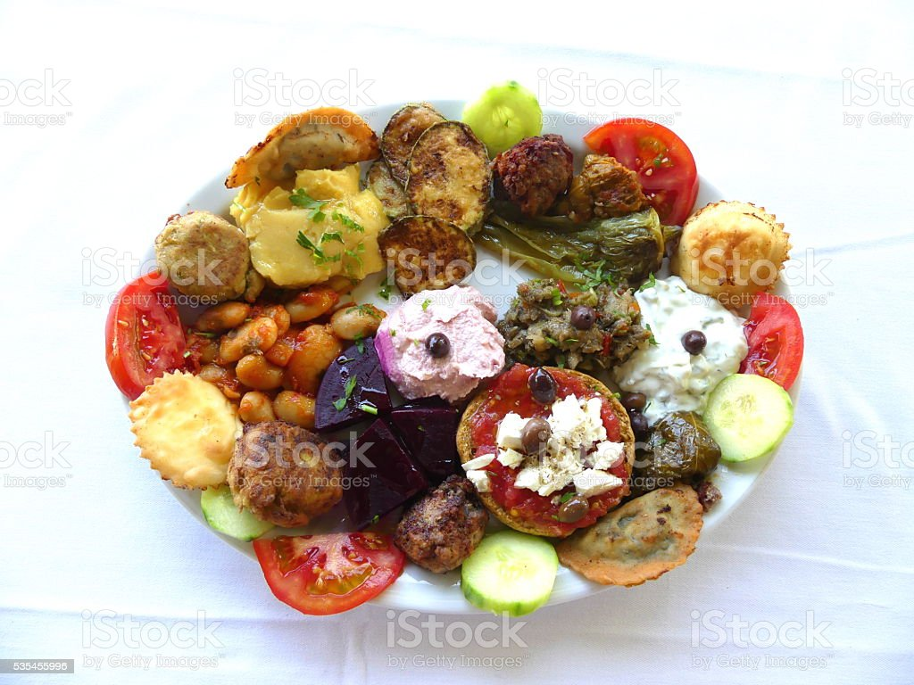 Greek Mixed Hors d'oeuvre stock photo