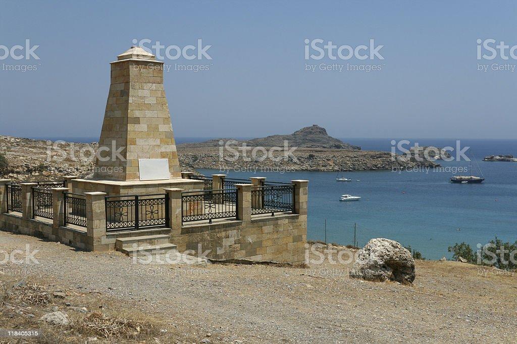 Greek monument royalty-free stock photo