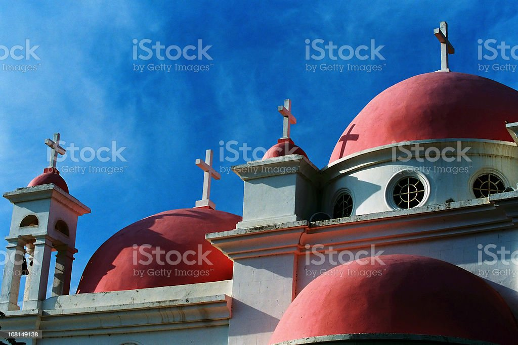 Greek Orthodox Church Against Blue Sky royalty-free stock photo