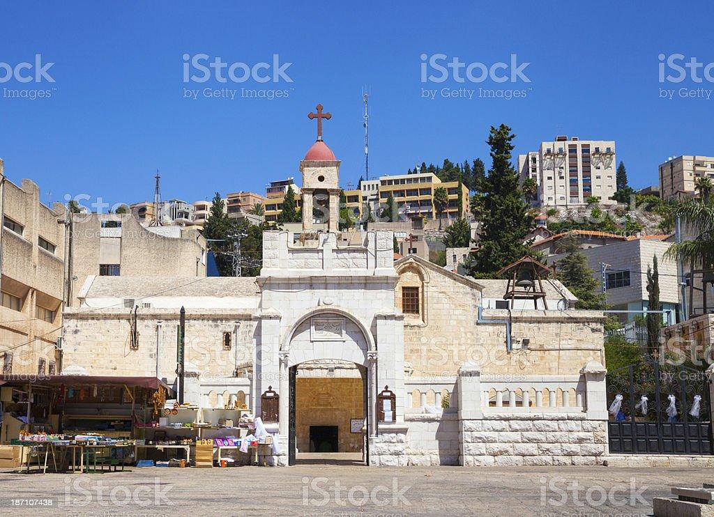 Greek Orthodox Church of the Annunciation in Nazareth, Israel stock photo