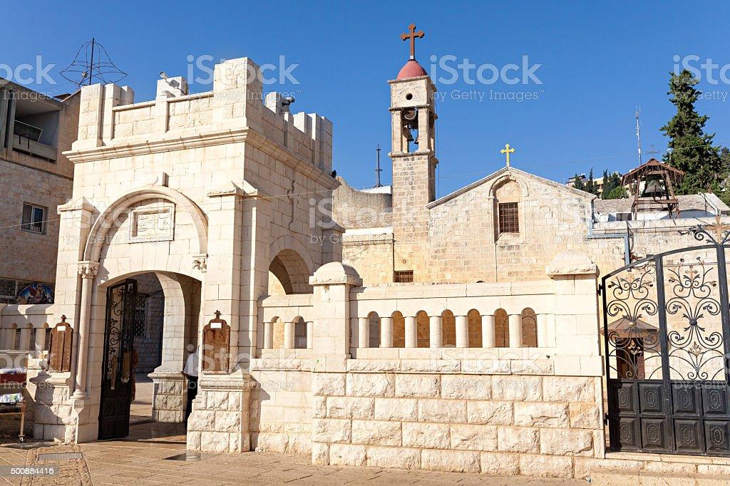 Greek Orthodox Church of the Annunciation, Nazareth, Israel stock photo