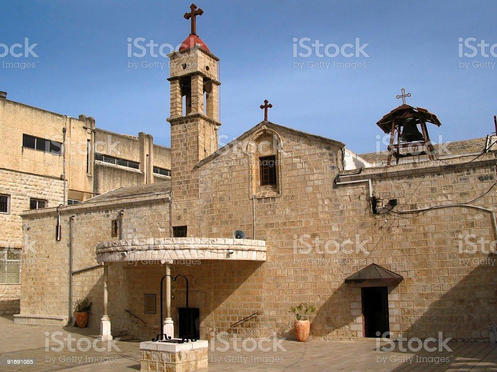 Greek Orthodox Church of the Annunciation, Nazareth, Israel royalty-free stock photo