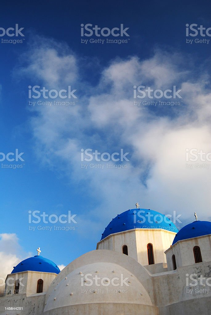 Greek Orthodox church on Santorini island, Greece royalty-free stock photo