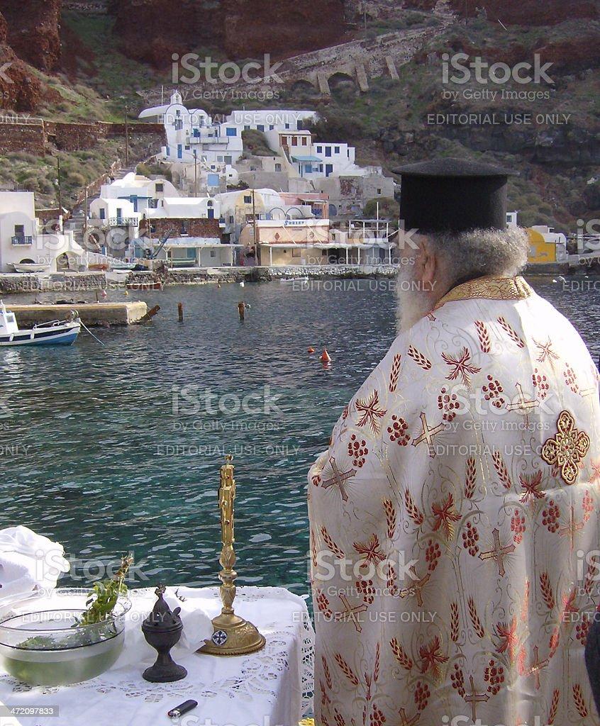 Greek Orthodox Epiphany stock photo