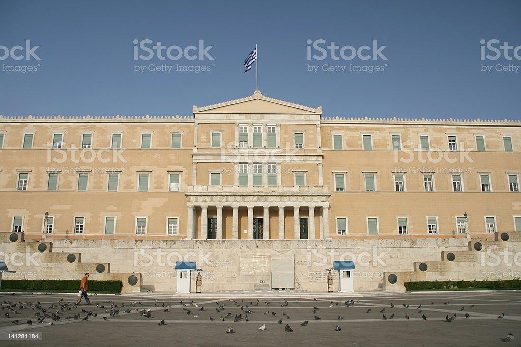 greek parliament 2 royalty-free stock photo