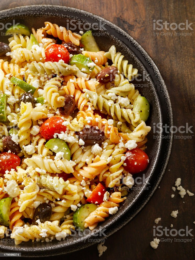 Greek Pasta Salad stock photo