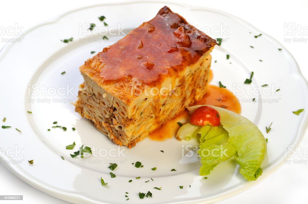 Greek Pastitsio Dish royalty-free stock photo