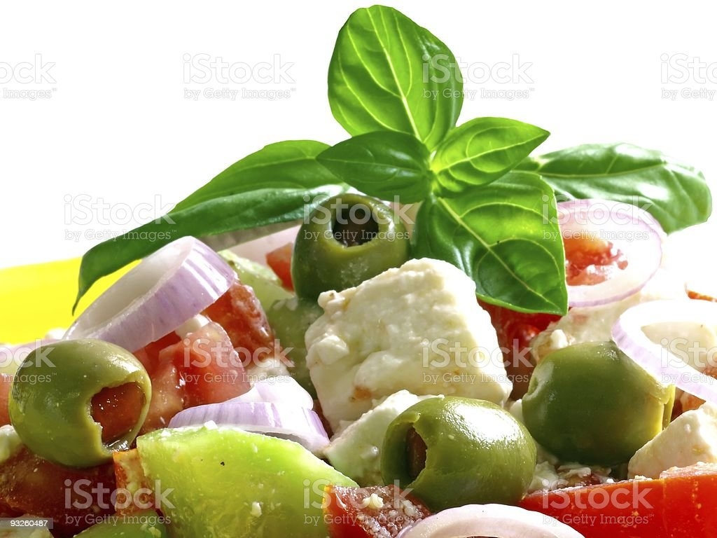 griechischer Bauernsalat royalty-free stock photo