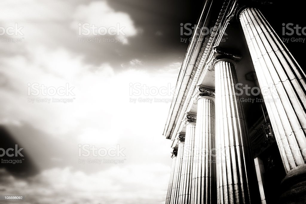 Greek pillars stock photo