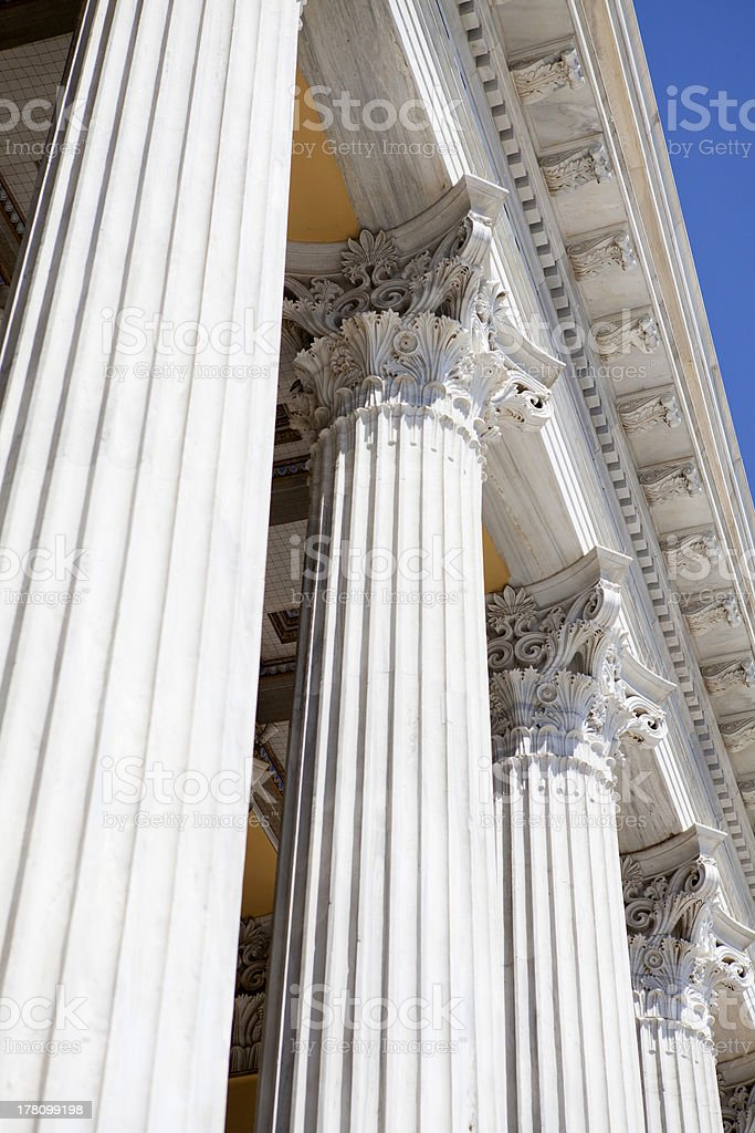 Greek Pillars royalty-free stock photo