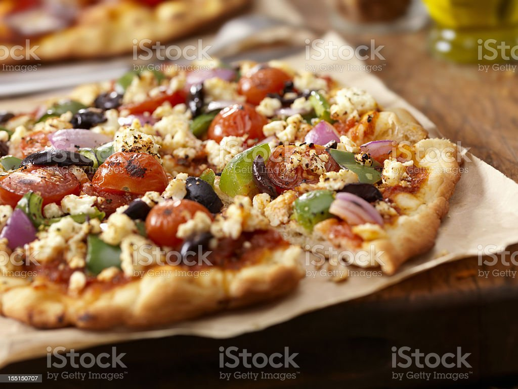 Greek Pizza royalty-free stock photo