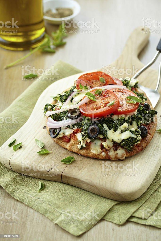 Greek Pizza royalty-free stock photo