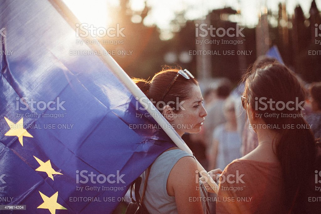 Greek Referendum 2015 stock photo