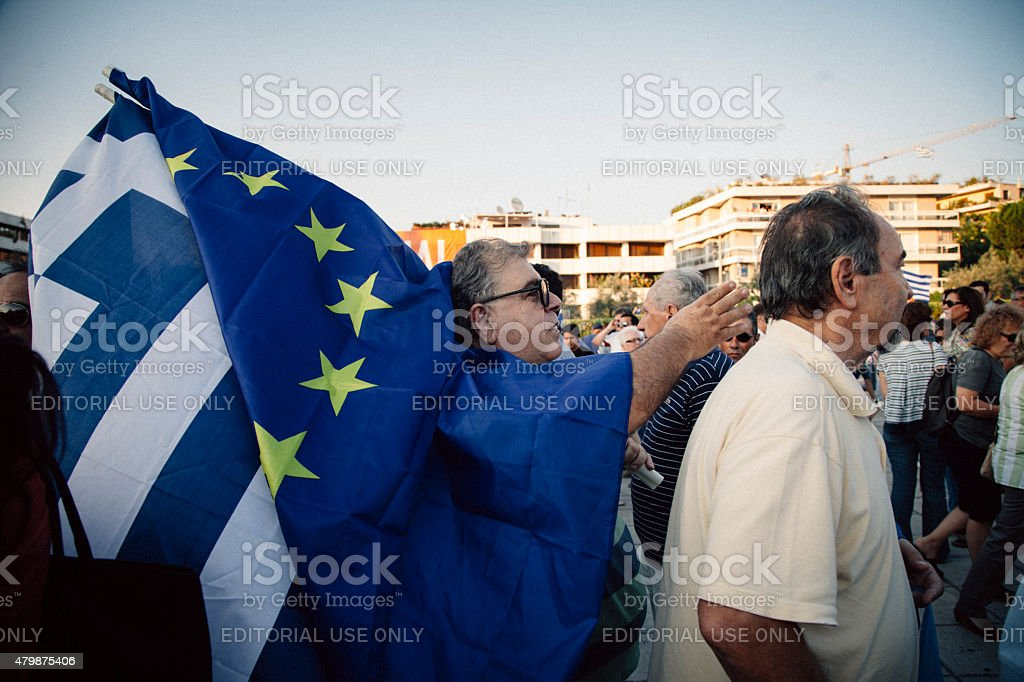 Greek Referendum 2015 stock photo