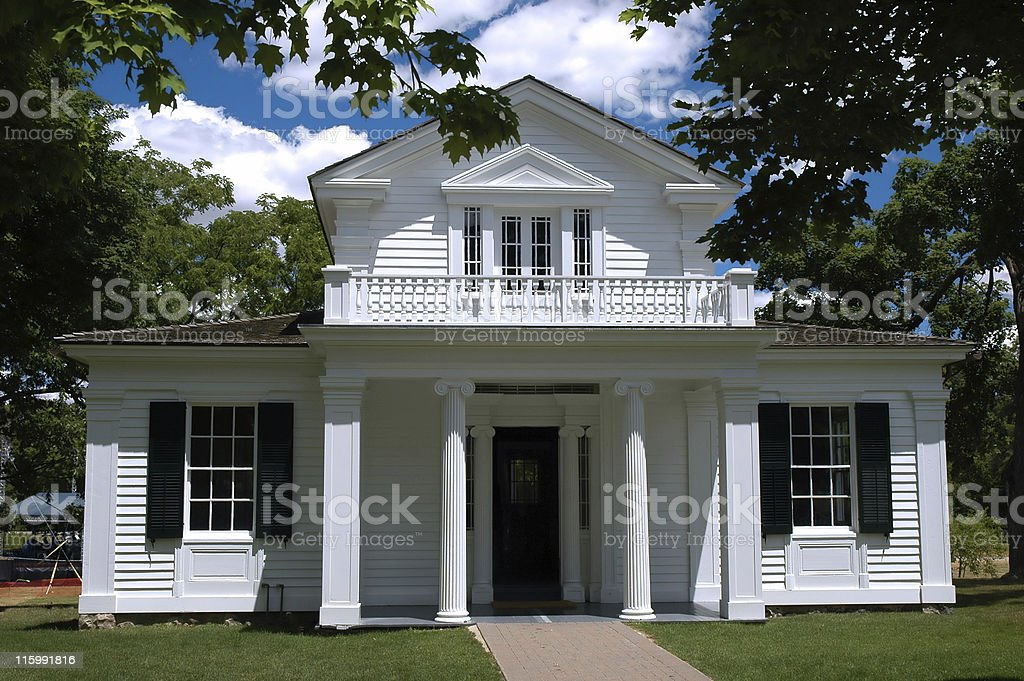 Greek revival house. stock photo