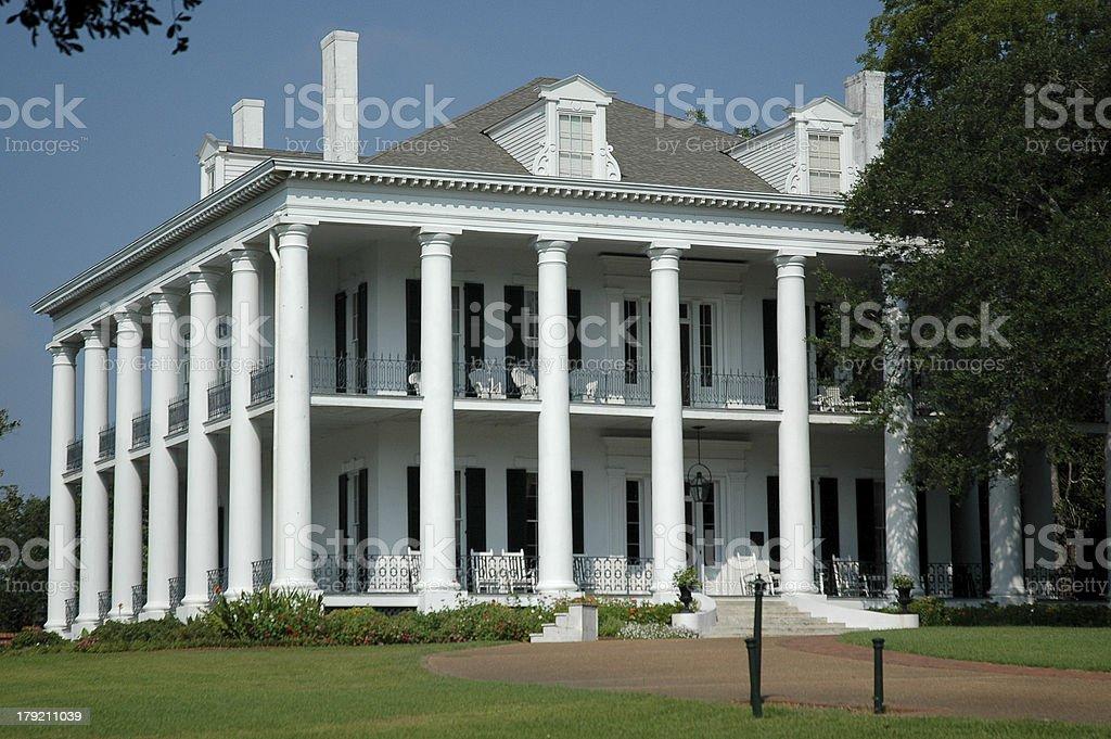 Greek Revival Mansion stock photo