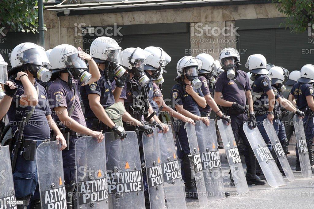 Greek Riot Police stock photo