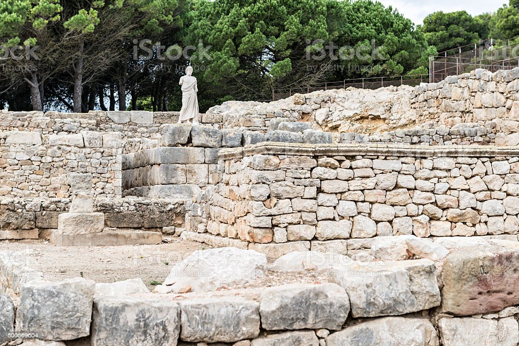 Greek ruins of Empuries stock photo