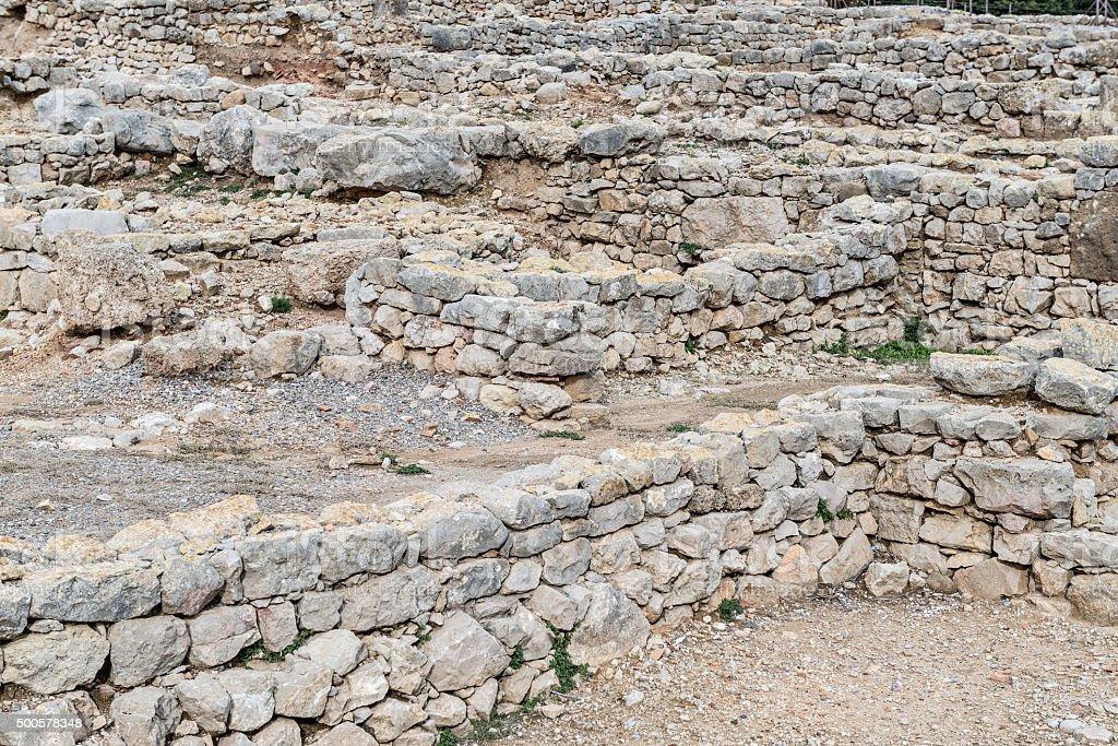 Greek ruins of Empuries stock photo