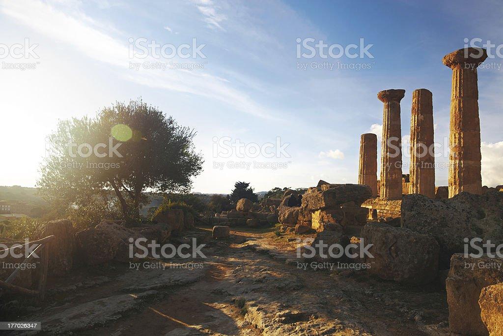 Greek ruins royalty-free stock photo
