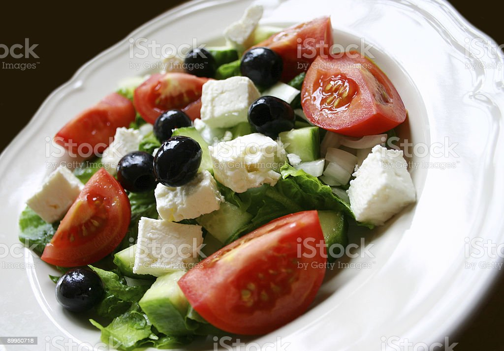 Greek Salad Close Up royalty-free stock photo